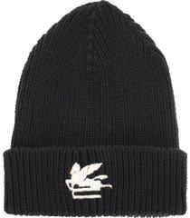 etro wool hat with pegasus
