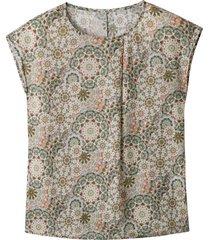blouseshirt van tencel™ met etnoprint, riet-motief 40/42