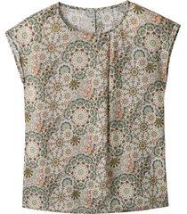 blouseshirt van tencel™ met etnoprint, riet-motief 34