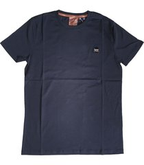 superdry donkerblauw zacht slim fit t-shirt valt 1 maat kleiner