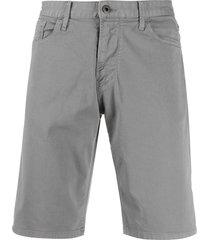 emporio armani denim bermuda shorts - grey