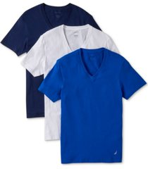 nautica men's 3-pk. cotton v-neck undershirts