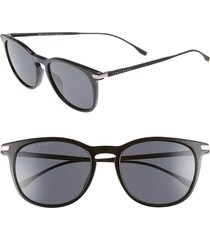 men's boss 53mm sunglasses - black
