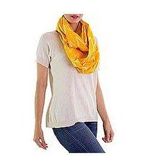 cotton infinity scarf, 'maya sunlight' (guatemala)