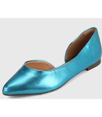 baleta azul turquesa via uno