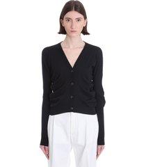 maison margiela cardigan in black cotton