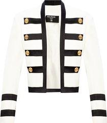 appliquéd blazer