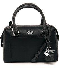 bolso negro-gris guess