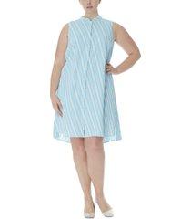 anne klein plus size striped trapeze dress