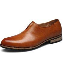 uomo scarpe formali a punta alla moda da business