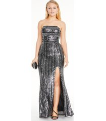 blondie nites juniors' sequined strapless gown