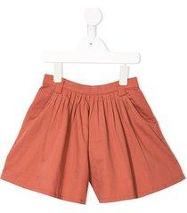 velveteen debbie flared shorts - pink
