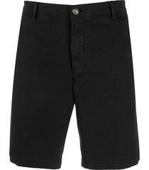 kenzo mid-rise chino shorts - black
