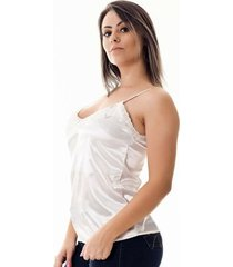 bcfd34a134 Camisetas - Rendas - Cetim - Branco E Rosa - 1 produtos com até 20.0 ...