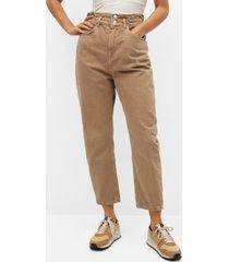 mango women's waist straight slouchy jeans