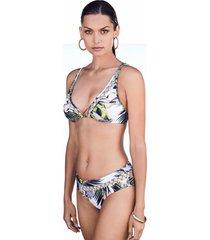 jets by jessika allen plunge u/wire forest bikini
