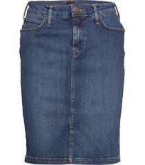 pencil skirt knälång kjol blå lee jeans