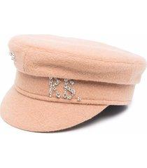 ruslan baginskiy logo-embellished baker boy hat
