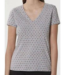 camiseta hering feminina 4enh confort malha algodão decote v - feminino