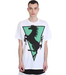 raf simons t-shirt in white cotton