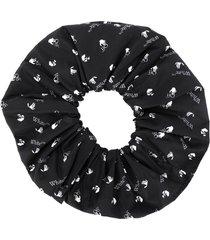 off-white logo-print hair tie - black