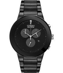 reloj  hombre axiom eco-drive negro citizen