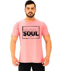 camiseta tradicional gola redonda alto conceito alma sonho voa liberdade rosa beb㪠- rosa - masculino - algodã£o - dafiti
