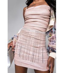 akira florence rhinestone belt skirt