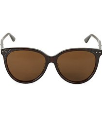 57mm oval sunglasses