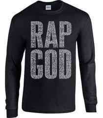 rap god eminem replica diamond obey long sleeve black men's tee shirt 833