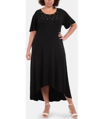 ny collection plus size embellished high-low maxi dress