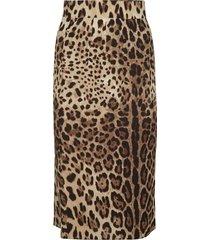 dolce & gabbana leopard print skirt