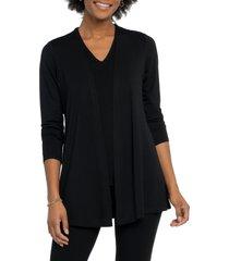 women's nic+zoe eaze cardigan, size x-small - black