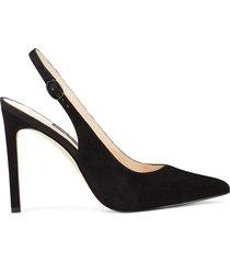 zapato de tacón de mujer tina nine west - negro  envio gratis