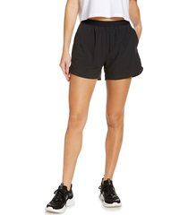 zella mix it up performance shorts, size large in black at nordstrom