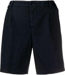 aspesi tailored wide leg shorts - blue