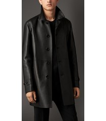 men leather coat winter long  leather coat genuine real leather trench coat-uk34