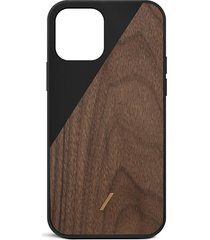 clic wooden iphone 12 mini case - black
