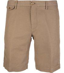 dark beige cotton and linen venezia 1951 man bermuda shorts