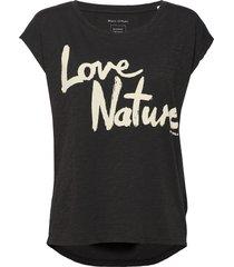 t-shirts short sleeve t-shirts & tops short-sleeved svart marc o'polo