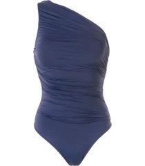 brigitte one shoulder swimsuit - blue