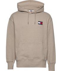 tjm tommy badge hoodie hoodie trui beige tommy jeans