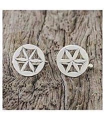 sterling silver ear cuffs, 'star petals' (thailand)