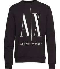 ax man sweatshirt sweat-shirt trui zwart armani exchange