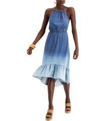 inc tiered halter midi dress, created for macy's