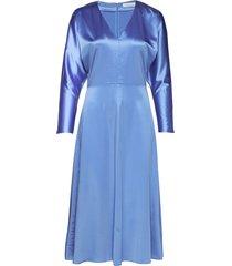 bacopa long dress 9697 jurk knielengte blauw samsøe samsøe