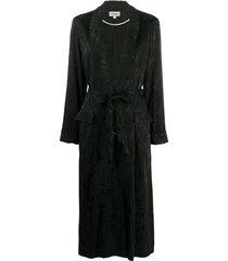 temperley london belted shawl collar coat - black