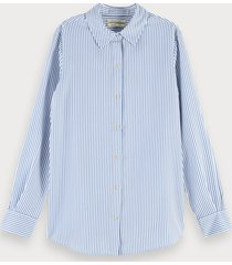 scotch & soda oversized gestreepte blouse