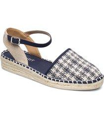 casual shoes textile sandaletter expadrilles låga blå esprit casual
