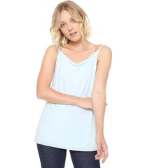 blusa finery london chester slash neck cami top azul